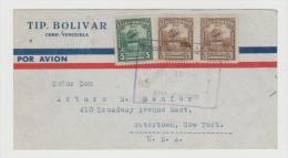 Ven071/  VENEZUELA - Brief (cover)  Bolivar Denkmal 1946 Nach USA - Venezuela