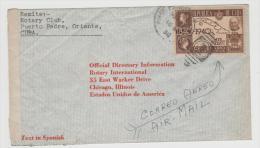 Cu038/  KUBA - Brief (cover) 100-jähriges Markenjubiläum 1940 Auf  Bedarfsbrief Nach USA 1942, Zensiert - Kuba