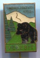 Alpinism, Mountaineering, Climbing - VAGANJSKI VRH, Velebit, Croatia, Vintage Pin, Badge - Alpinism, Mountaineering