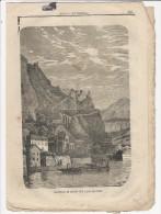 Rivista Del 1865 Splendida Veduta A Piena Pagina Del Castello Di Musso Como Lecco - Altri