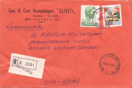 CASA DI CURA REUMATOLOGICA OLIVETTI - 88073 - COTRONEI - 1981 -  R - FTO 12X17 - TEMATICA TOPIC STORIA COMUNI D´ITALIA - Affrancature Meccaniche Rosse (EMA)