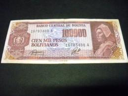 BOLIVIE 100000 Pesos Bolivianos  Decret  05/06/1984, Pick N° KM 171, BOLIVIA - Bolivien