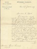 Lettre (27 Janvier 1899) Signé Charles De Freycinet Ministre De La Guerre, à M. Ricard, Député,16° Regiment De Chasseurs - Historical Documents