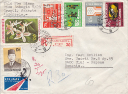 23718- ORCHID, COOKING, MARTIAL ARTS, SEA GAMES, PRESIDENT SUHARTO, STAMPS ON REGISTERED COVER, 1979, INDONESIA - Indonesia