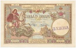 "Yugoslavia 1000 Dinara 1920. AUNC Forgery.Counterfeit Marked With Rubber Stamp ""Lazna""  RR - Yougoslavie"