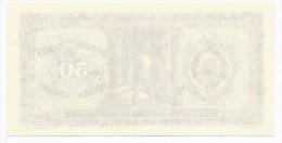 Yugoslavia 50 Dinara 1946.  ERROR Banknote Not Completed Print UNC - Joegoslavië