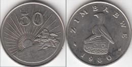 Zimbabwe 50 Cents 1980 Km#5 - Used - Zimbabwe