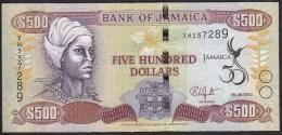 Jamaica 500 Dollar 2012 P91 UNC - Jamaica