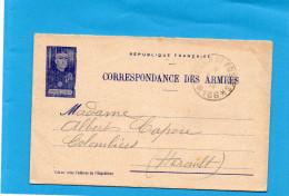 Marcophilie-Guerre 14-18- Carte Lettre FM-général Joffre--T P 166 -9 Juin 1916 - Guerre De 1914-18