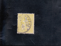 "HELVETIA "" ASSISE "" 15C JAUNE  OBLITéRé N° 44 YVERT ET TELLIER 1867-78 - Used Stamps"