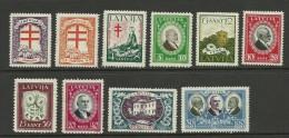 LETTLAND Latvia 1930 Michel 161 - 170 MNH - Latvia