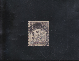 TYPE DUVAL 3C NOIR  OBLITéRé N° 12  YVERT ET TELLIER 1881-92 - Taxes
