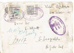 BRAZIL 1943 - UNIQUE REGISTERED VALUE ENVELOPE SENT FROM GUICHE FILATELICO TO S.LEPOLDO/BRAZIL OF 1943 POSTM DISTRITO FE - Brazil