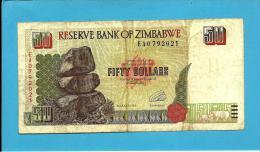 ZIMBABWE - 50 DOLLARS - 1994 - Pick 8 - Sign. 3 - 2 Scans - Zimbabwe
