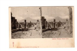 Carte Postale Stéréoscopiques, Italie, Pompeji - Cartoline Stereoscopiche