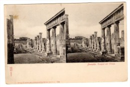 Carte Postale Stéréoscopiques, Imp. Knckstedt & Näther, Italie, Pompeji - Cartoline Stereoscopiche