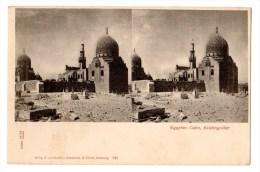 Carte Postale Stéréoscopiques, Imp. Knackstedt & Näther, Egypte, Cairo - Stereoskopie