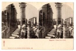 Carte Postale Stéréoscopiques, Imp. Knackstedt & Näther, Egypte, Luxor - Cartoline Stereoscopiche