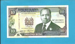 KENYA - 10 Shillings - 01.01.1994 - Pick 24.f - President Daniel Toirotich Arap Moi - 2 Scans - Kenia