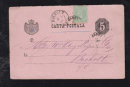 Rumänien Romania 1883 Uprated Stationery JASSY To BOCHOLT Germany - Briefe U. Dokumente