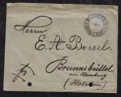 Rumänien Romania 1892 Cover BUCURESTCI Train Station Postmark To BRUNNSBUETTEL Germany - 1881-1918: Charles Ier