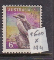Australia 1937-49 King George VI, ASC 194 6d Kookaburra Mint Hinged - 1937-52 George VI