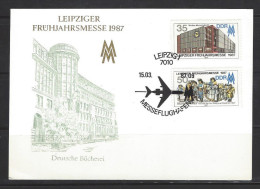 DDR FDC Mi-Nr. 3080 - 3081 Leipziger Frühjahrsmesse - Stempel Messeflughafen - [6] República Democrática