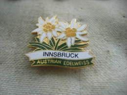 Pin´s 2 Edelweiss Autrichienne, Ville D'INNSBRUCK - Sin Clasificación