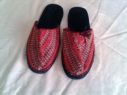 Ciabatte Stoffa Colorata Con Suola In Gomma Nera Artigianato Iraniano-Slippers-Chaussons-Hausschuhe - Scarpe