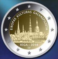 Letland 2014    2 Euro  Commemo  RIGA  UNC Uit De Rol  UNC Du Rouleaux  !! - Lettonie