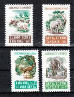 Ostafrika 1975**, Selt. Tiere Ostafrikas, Sukkulenten / East Africa 1975, MNH, Rare Animals Of East Africa, Succulents - Hostelería - Horesca