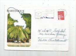 Lettre , Martinique , TRINITE , 2 Scans - Marcophilie (Lettres)
