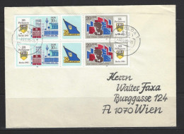 DDR - Beleg Mi-Nr. 2947 - 2948 Dreierstreifen X 2 Parlament Der FDJ - [6] Democratic Republic
