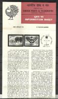 INDIA,1981, BROCHURE WITH INFORMATION, 9th Asian Games, Logo, Hockey Players., Mascot ElephantSet, 2 V, - India