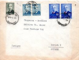 TURQUIE. Belle Enveloppe Ayant Circulé En 1943. Ismet Inönü. - 1921-... Republic