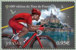 France N° 4762 ** Sport - Cyclisme. Centième Tour De France. Le Maillot Rouge, Plus Combatif Devant Le Mont-Saint-Michel - Frankrijk