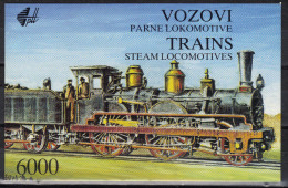 Yugoslavia,Old Trains 1992.,booklet,MNH - 1992-2003 Federal Republic Of Yugoslavia