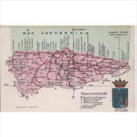ASTRATP2819-LFTD4243.Tarjeta Postal DE ASTURIAS.MAPA GEOGRAFICO POLITIVO DE OVIEDO - Asturias (Oviedo)
