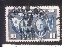 Philippines 1947 Manuel L Quezon & Franklin D Roosevelt 80c Flag Used - Philippines