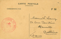 Carte Postale En FM Juin 1940 D'un Prisonnier Transmis Par La Croix-Rouge De Belgique - WW II