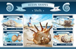 MALDIVES 2015 - Shells, Crab. Official Issue - Schaaldieren