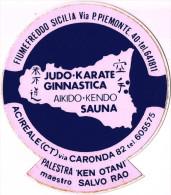 Adesivo Sticker Autocollant -Palestra Karate KEN-OTANI Maestro SALVO RAO-Acireale/Fiumefreddo Sicilia-1980´s - Stickers