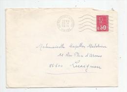 Lettre , 1974 , NEUVILLE DE POITOU , Vienne - Poststempel (Briefe)