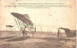 Cpa Biplan Maurice A Plans Decales Type Concours Militaire Rare A Voir A Saisir - Flugzeuge