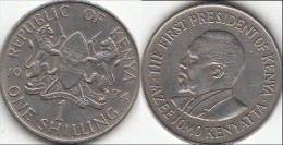 KENYA 1 Shilling 1974 KM#14 - Used - Kenia