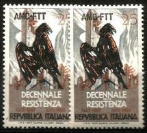 1954 STORIA DELLA RESISTENZA Valore Nuovo ** MNH - 6. 1946-.. Repubblica