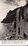 POSTCARD INN RUINS LANDING BEACH TOWER ROCK STEEP HOLM THE KENNETH ALLSOP MEMORIAL ISLAND BRISTOL CHANNEL RPPC - Bristol