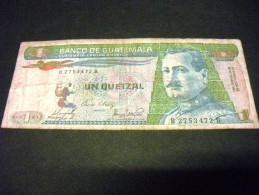 GUATEMALA 1 Quetzal 30/12/1983, 1983/1989 , Pick 66, GUATEMALA - Guatemala