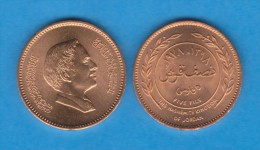 JORDAN  / JORDANIA  5 Fils (1/2 Qirsh) 1.978 BRONCE  KM#36  EBC/SC   XF/UNC    T-DL-11.357 - Jordanie