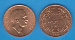 JORDAN  / JORDANIA  10 Fils (Qirsh , Piastre) 1.975  BRONCE  KM#16  EBC/SC   XF/UNC    T-DL-11.358 - Jordanien